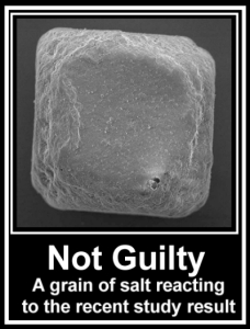 Grain of salt not guilty verdict